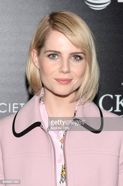 Lucy Boynton attends a screening of 'The Blackcoat's Daughter' hosted by A24 and DirecTV with The Cinema Society at Landmark Sunshine Cinema on March...