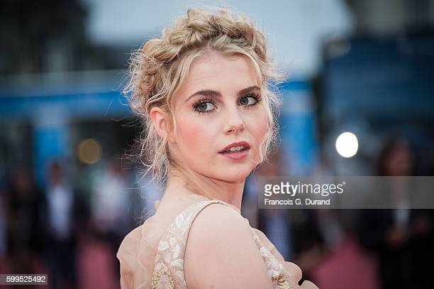 Lucy Boynton attends the 'In Dubious Battle' Premiere during the 42nd Deauville American Film Festival on September 5 2016 in Deauville France