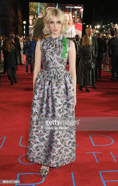 Lucy Boynton attends the World Premiere of 'Murder On The Orient Express' at The Royal Albert Hall on November 2 2017 in London England
