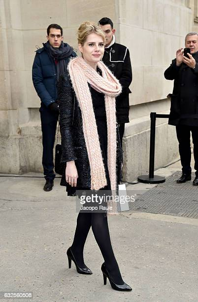 Lucy Boynton is seen leaving the Chanel Fashion Show during Paris Fashion Week Haute Couture F/W 20172018 on January 24 2017 in Paris France