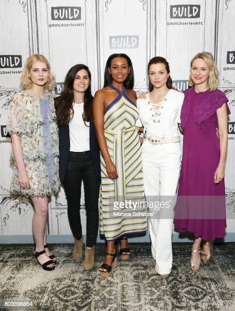 Lucy Boynton Lisa Rubin Melanie Liburd Sophie Cookson and Naomi Watts discuss 'Gypsy' at Build Studio on June 29 2017 in New York City