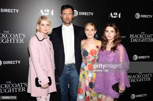 Lucy Boynton Osgood Perkins Kiernan Shipka and Emma Roberts attend a screening of 'The Blackcoat's Daughter' hosted by A24 and DirecTV with The...