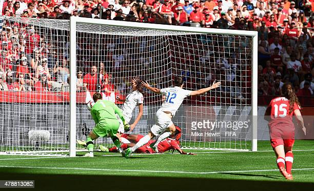 Lucy Bronze of England celebrates after scoring her team's second goal during the FIFA Women's World Cup 2015 Quarter Final match between England and...
