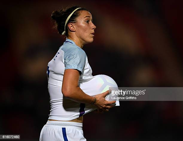 Lucy Bronze of England looks on during the International Friendly between England and France at Keepmoat Stadium on October 21 2016 in Doncaster...