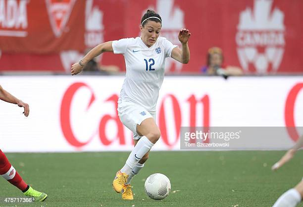 Lucy Bronze of England runs with the ball against Canada during their Women's International Friendly match on May 29 2015 at Tim Hortons Field in...