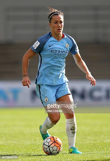 Lucy Bronze of Manchester City Women controls the ball during the FA Women's Super League match between Manchester City Women and Chelsea Ladies FC...