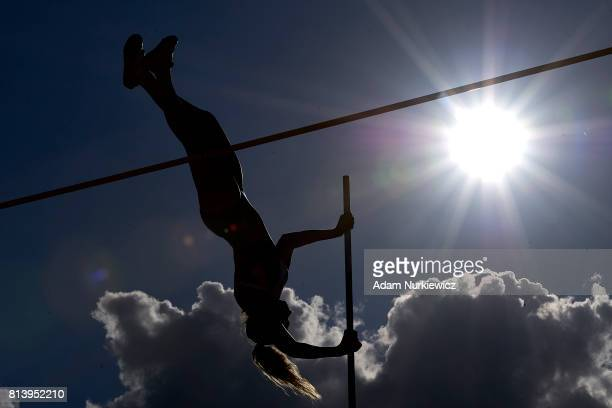 Lucy Bryan from Great Britain competes in women's pole vault qualification during Day 1 of European Athletics U23 Championships 2017 at Zawisza...