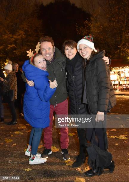 Lucy Conley Brian Conley AnneMarie Conley and Amy Conley attend the VIP launch of Hyde Park Winter Wonderland 2017 on November 16 2017 in London...