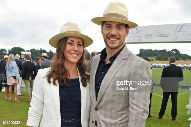Lucy Cork and Henry Cavill attend the JaegerLeCoultre Gold Cup Polo Final at Cowdray Park on July 23 2017 in Midhurst England