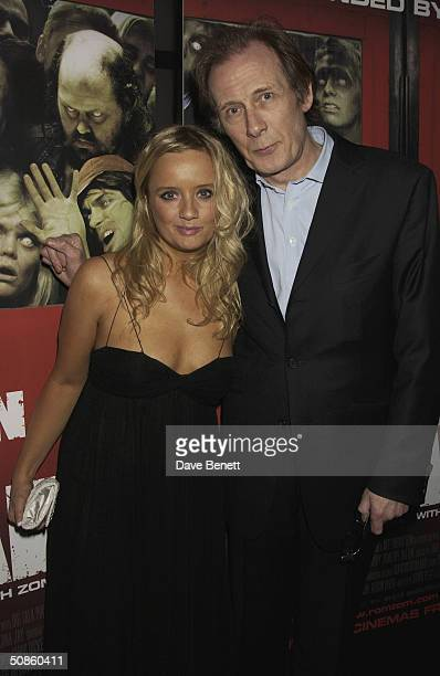 Lucy Davies and Bill Nighy attend the UK Premiere of 'Shaun of the Dead' at The Vue in Leicester Square followed by the party at the Atlantic Bar and...