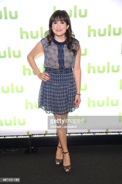 Lucy DeVito attend Hulu's Upfront Presentation on April 30 2014 in New York City