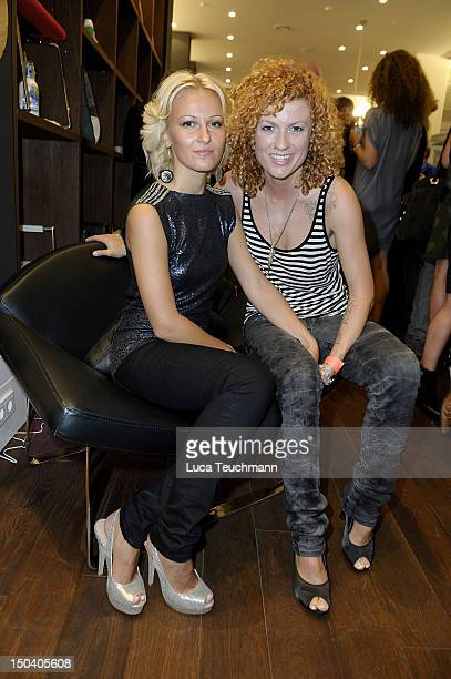 Lucy Diakovska and girlfriend Kamelia attend the 'Fashion For Home' Store Opening on August 16 2012 in Berlin Germany