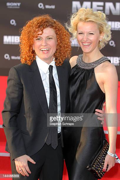 Lucy Diakovska and guest attend the 'Men In Black 3' Germany Premiere at O2 World Muehlenstrasse on May 14 2012 in Berlin Germany