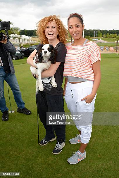 Lucy Diakovska and Jessica Wahls attend the 7th GRK Golf Charity Masters Leipzig on August 23 2014 in Leipzig Germany