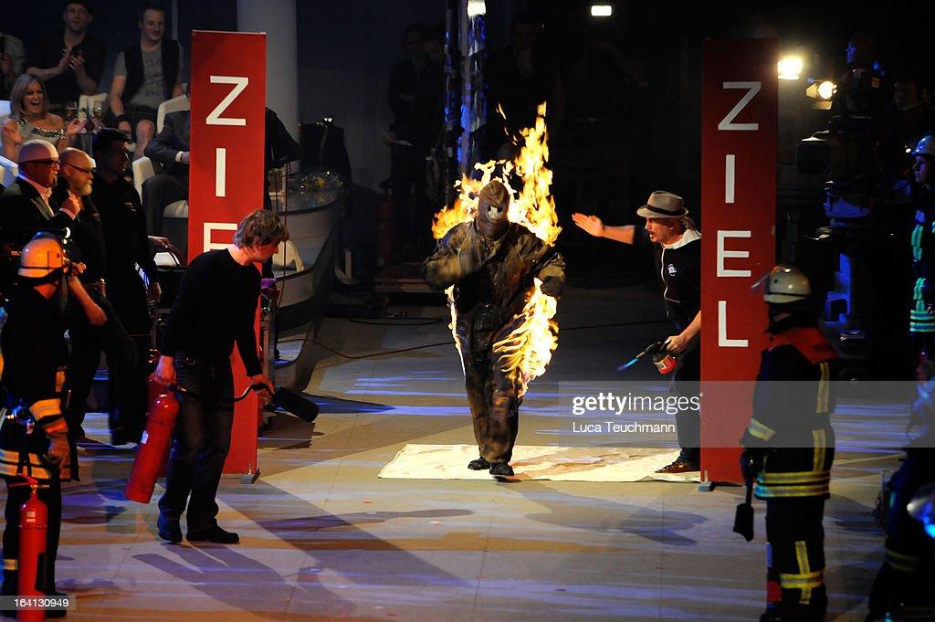 Lucy Diakovska attends 'Das Fruehlingsfest der 100.000 Bluetten' TV-Show at GETEC Arena on March 16, 2013 in Magdeburg, Germany.