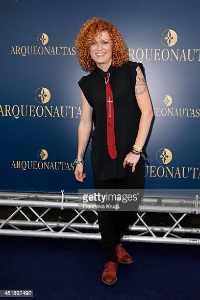 Lucy Diakovska attends the Arqueonautas Presents Kevin Costner Music Meets Fashion at Spindler Klatt on July 08 2014 in Berlin Germany