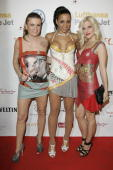 Lucy Diakovska Nadja Benaissa and Sandy Moelling of the band No Angels attend the Universal Party after the MTV Europe Music Awards 2009 at Tempelhof...