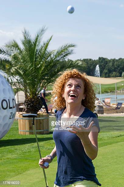 Lucy Diakovska takes part in the 6th GRK Golf Charity Masters at Golf Country Club Leipzig on August 24 2013 in Leipzig Germany