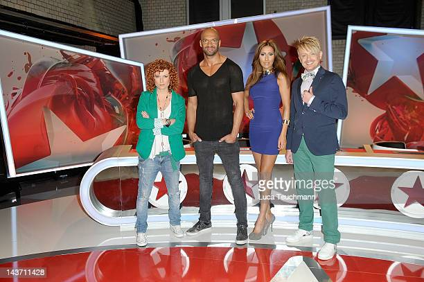 Lucy DiakovskaDetlef D Soost Senna Guemmour and Ross Antony attend the Popstars Jury Photocall on May 3 2012 in Berlin Germany