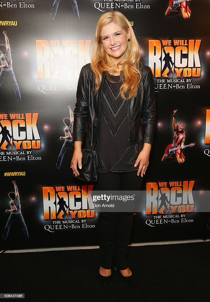 Lucy Durack arrives ahead of We Will Rock You Opening Night at Lyric Theatre, Star City on May 5, 2016 in Sydney, Australia.