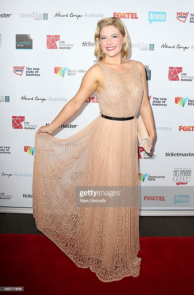 Lucy Durack arrives at the 2014 Helpmann Awards at the Capitol Theatre on August 18, 2014 in Sydney, Australia.