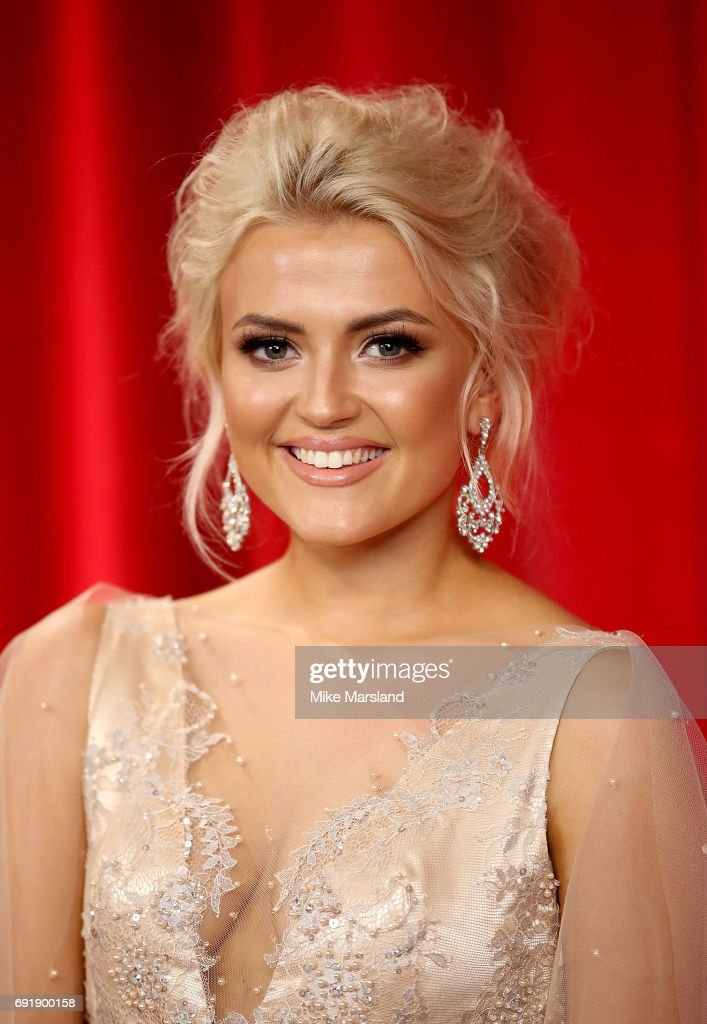 Lucy Fallon attends The British Soap Awards at The Lowry Theatre on June 3, 2017 in Manchester, England. The Soap Awards will be aired on June 6 on ITV at 8pm.