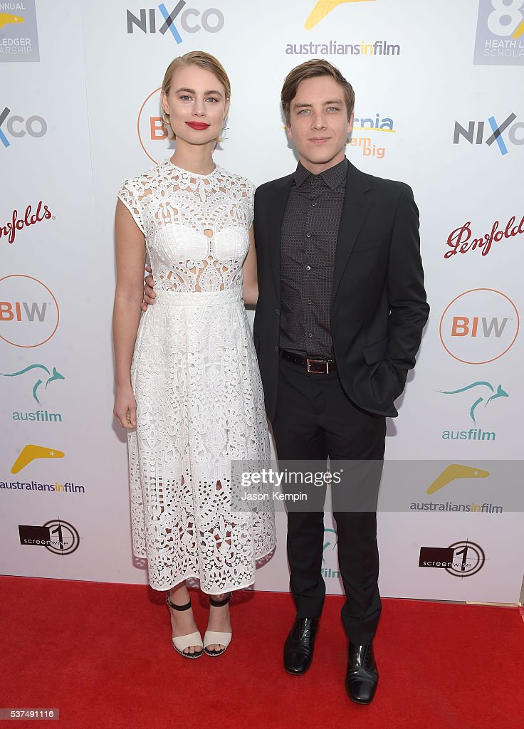 Lucy Fry and Cody Fern attend the Australians In Film Heath Ledger Scholarship Dinner at Mr C Beverly Hills on June 1 2016 in Beverly Hills California