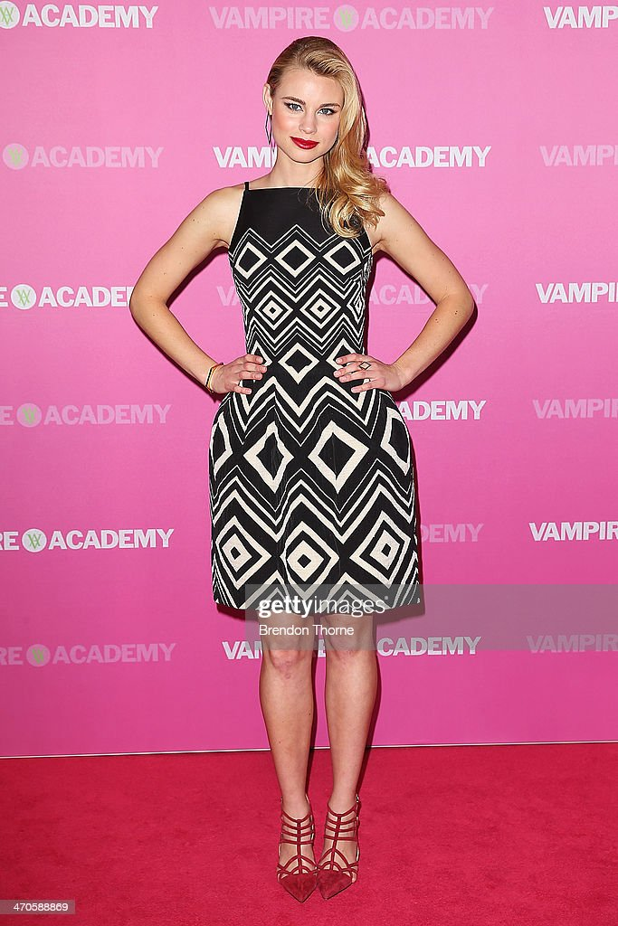 <a gi-track='captionPersonalityLinkClicked' href=/galleries/search?phrase=Lucy+Fry&family=editorial&specificpeople=11673695 ng-click='$event.stopPropagation()'>Lucy Fry</a> arrives at the 'Vampire Academy' premiere at Event Cinemas George Street on February 20, 2014 in Sydney, Australia.