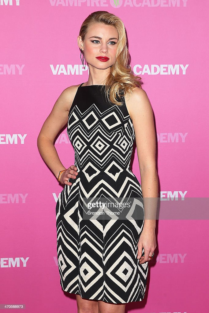 Lucy Fry arrives at the 'Vampire Academy' premiere at Event Cinemas George Street on February 20, 2014 in Sydney, Australia.