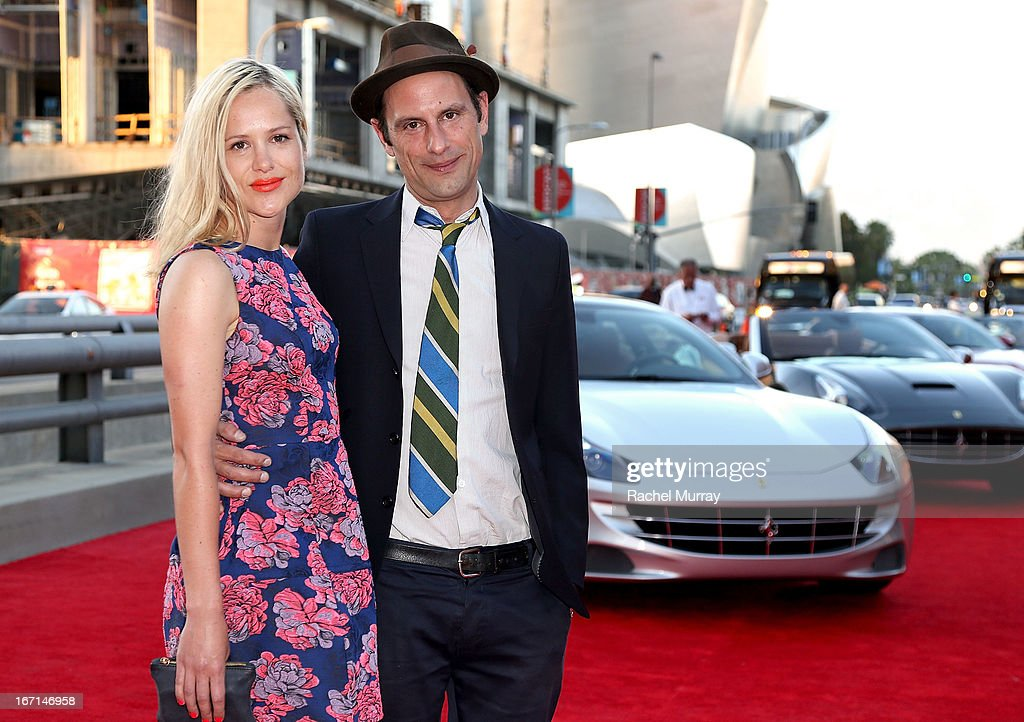 Lucy Goodwin (L) and director Aaron Rose attend 'Yessss!' MOCA Gala 2013, celebrating the opening of the exhibition Urs Fischer - Ferrari at MOCA Grand Avenue on April 20, 2013 in Los Angeles, California.