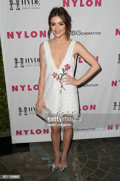 Lucy Hale arrives at NYLON and BCBGeneration's Annual Young Hollywood May Issue Event at HYDE Sunset Kitchen Cocktails on May 12 2016 in West...