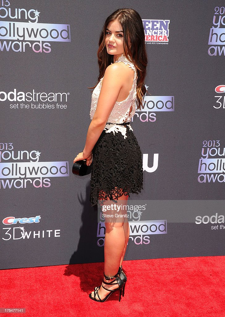 Lucy Hale arrives at the 15th Annual Young Hollywood Award at The Broad Stage on August 1, 2013 in Santa Monica, California.