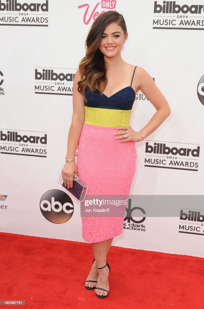 <a gi-track='captionPersonalityLinkClicked' href=/galleries/search?phrase=Lucy+Hale&family=editorial&specificpeople=4430849 ng-click='$event.stopPropagation()'>Lucy Hale</a> arrives at the 2014 Billboard Music Awards at the MGM Grand Hotel and Casino on May 18, 2014 in Las Vegas, Nevada.