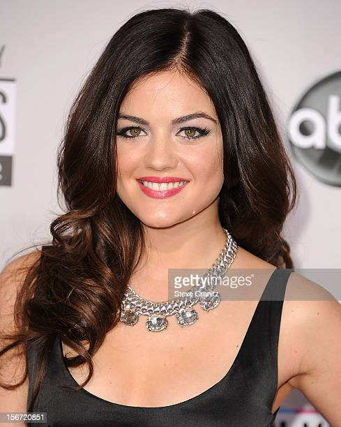 Lucy Hale arrives at the 40th Anniversary American Music Awards at Nokia Theatre LA Live on November 18 2012 in Los Angeles California