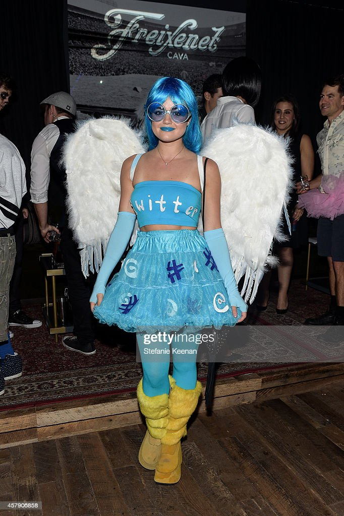Lucy Hale attends Matthew Morrison's 5th Annual Halloween Party Presented By Freixenet at Hyde On Sunset on October 25 2014 in Los Angeles California
