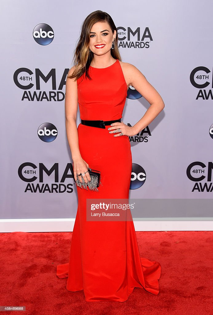 <a gi-track='captionPersonalityLinkClicked' href=/galleries/search?phrase=Lucy+Hale&family=editorial&specificpeople=4430849 ng-click='$event.stopPropagation()'>Lucy Hale</a> attends the 48th annual CMA Awards at the Bridgestone Arena on November 5, 2014 in Nashville, Tennessee.
