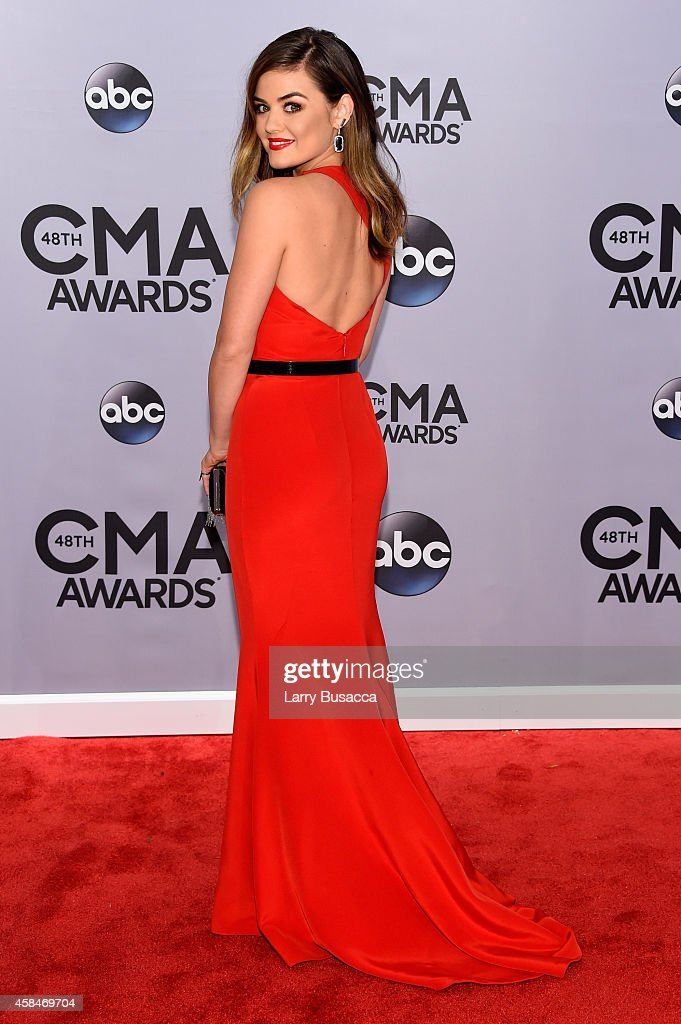 Lucy Hale attends the 48th annual CMA Awards at the Bridgestone Arena on November 5 2014 in Nashville Tennessee