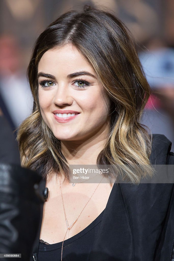 Lucy Hale attends the 88th Annual Macy's Thanksgiving Day Parade Rehearsals on November 25 2014 in New York City