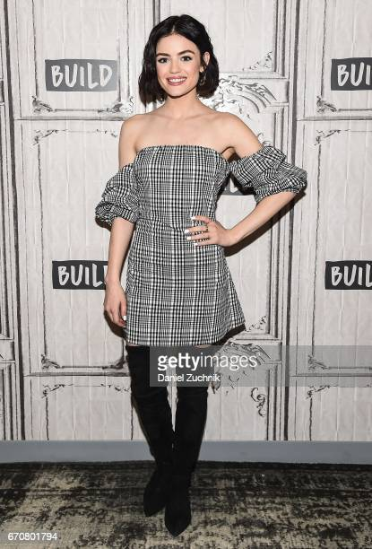 Lucy Hale attends the Build Series to discuss her show 'Pretty Little Liars' at Build Studio on April 20 2017 in New York City
