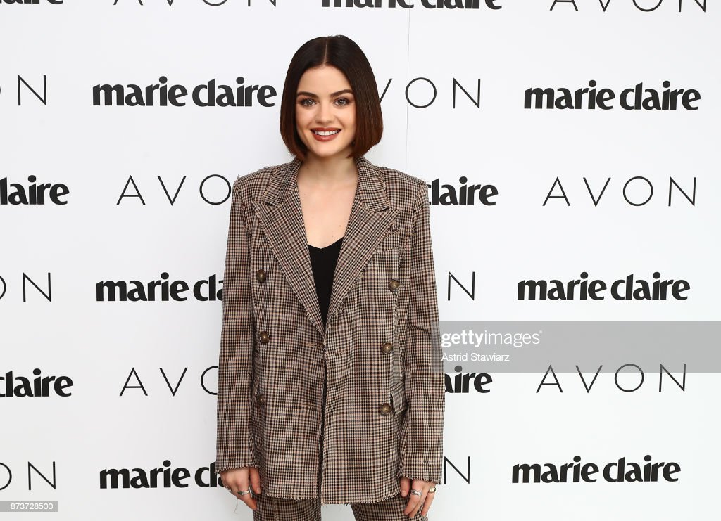 Lucy Hale attends the Lucy Hale & Avon Host #BeautyBoss Luncheon With Marie Claire Magazine at The Hearst Tower on November 13, 2017 in New York City.