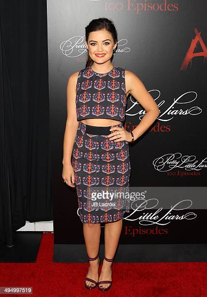 Lucy Hale attends the 'Pretty Little Liars' Celebrates 100 Episodes held at the W Hollywood Hotel on May 31 2014 in Hollywood California