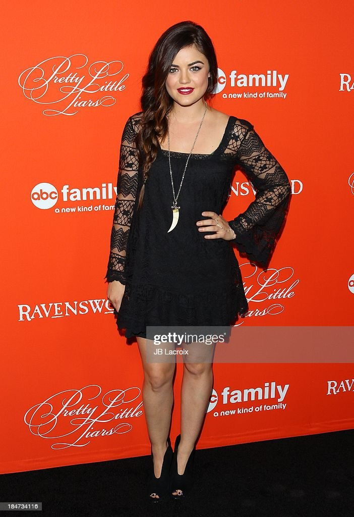 <a gi-track='captionPersonalityLinkClicked' href=/galleries/search?phrase=Lucy+Hale&family=editorial&specificpeople=4430849 ng-click='$event.stopPropagation()'>Lucy Hale</a> attends the 'Pretty Little Liars' Special Halloween Episode Premiere Party held at Hollywood Forever on October 15, 2013 in Hollywood, California.