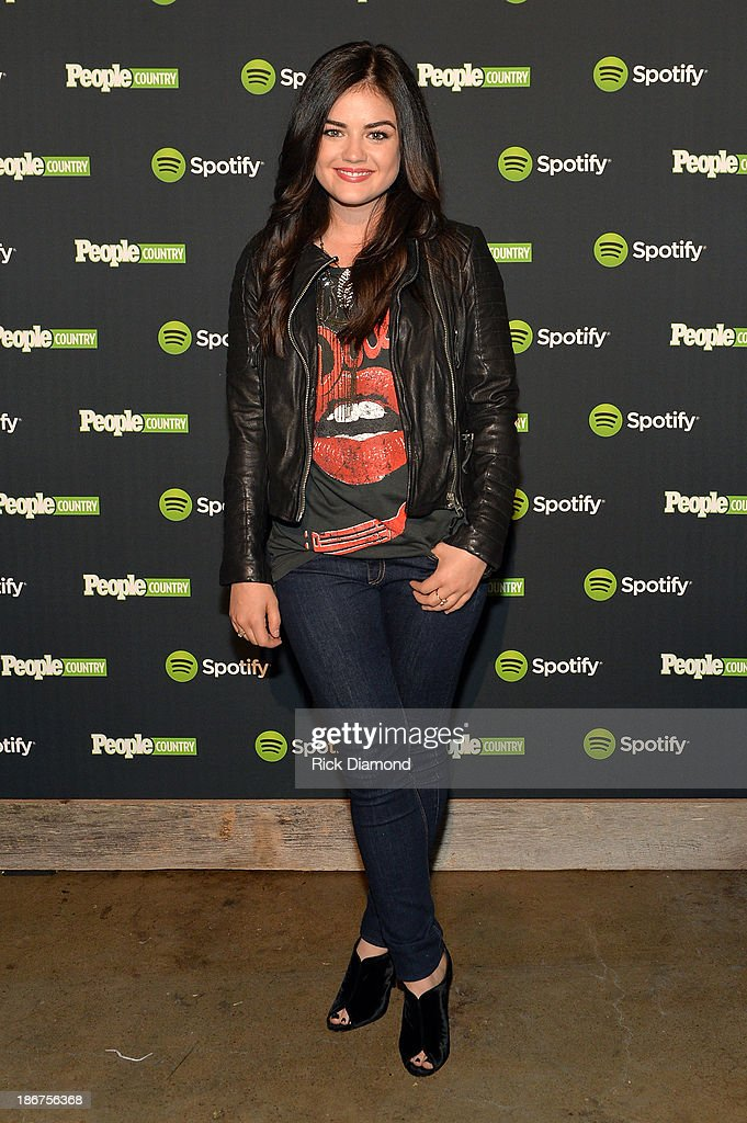 Lucy Hale attends the Spotify and People Country Present Jennifer Nettles And Friends Live In Nashville at Marathon Music Works on November 3 2013 in...