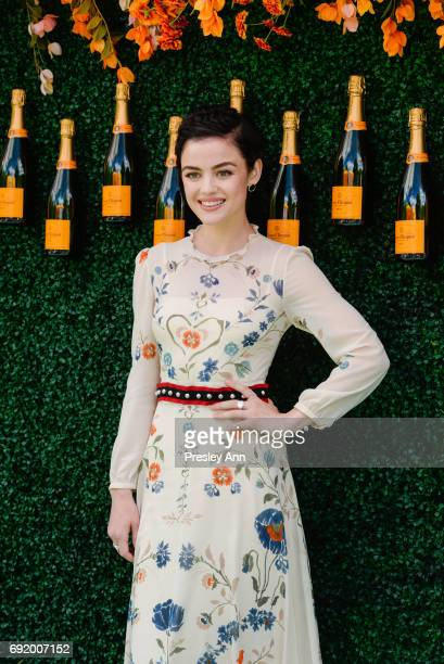 Lucy Hale attends The Tenth Annual Veuve Clicquot Polo Classic Arrivals at Liberty State Park on June 3 2017 in Jersey City New Jersey