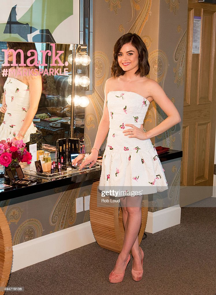 <a gi-track='captionPersonalityLinkClicked' href=/galleries/search?phrase=Lucy+Hale&family=editorial&specificpeople=4430849 ng-click='$event.stopPropagation()'>Lucy Hale</a>, mark. Brand Ambassador, attends the mark. Holiday Collection event at the Crosby Hotel on October 28, 2015 in New York City.