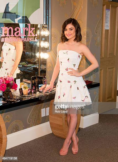 Lucy Hale mark Brand Ambassador attends the mark Holiday Collection event at the Crosby Hotel on October 28 2015 in New York City