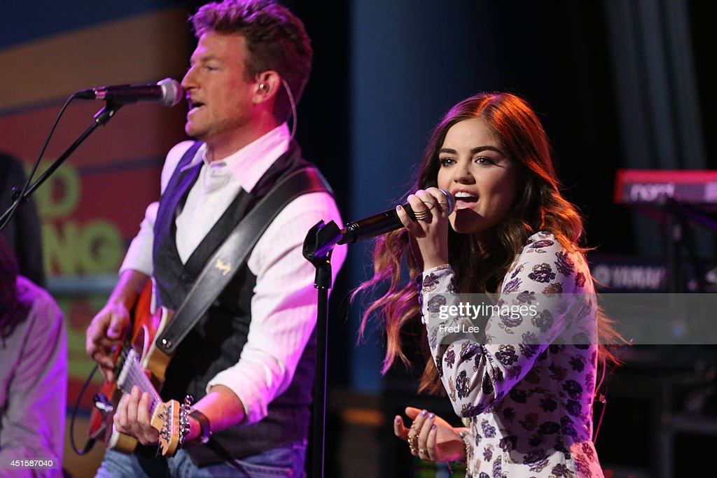 AMERICA - Lucy Hale performs live on 'Good Morning America,' 6/30/14, airing on the ABC Television Network.
