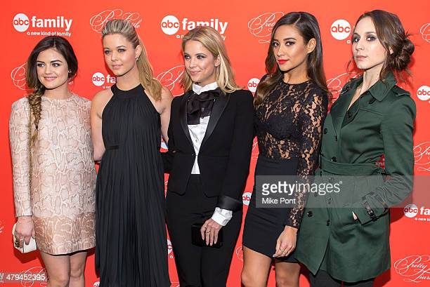 Lucy Hale Sasha Pieterse Ashley Benson Shay Mitchell and Troian Bellisario attend the 'Pretty Little Liars' season finale screening at the Ziegfeld...