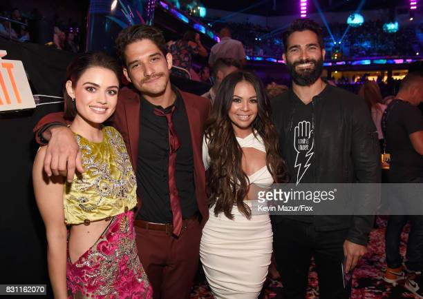 Lucy Hale Tyler Posey Janel Parrish and Tyler Hoechlin attend Teen Choice Awards 2017 at Galen Center on August 13 2017 in Los Angeles California
