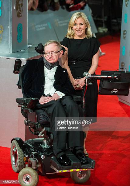 Lucy Hawking and Stephen Hawking attend the EE British Academy Film Awards at The Royal Opera House on February 8 2015 in London England